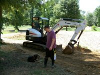 8-31-13 Luke Looking at Booger, the ex tractor dog.jpg