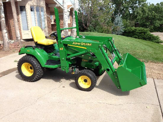 john deere x585 review by mike tractorbynet com