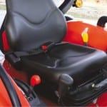 Comfortable seat with suspension.
