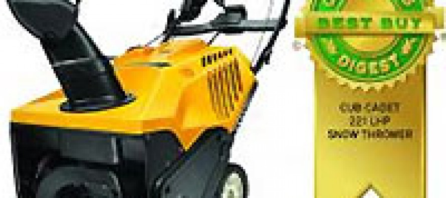 Consumers Digest Awards Cub Cadet Snow Blowers
