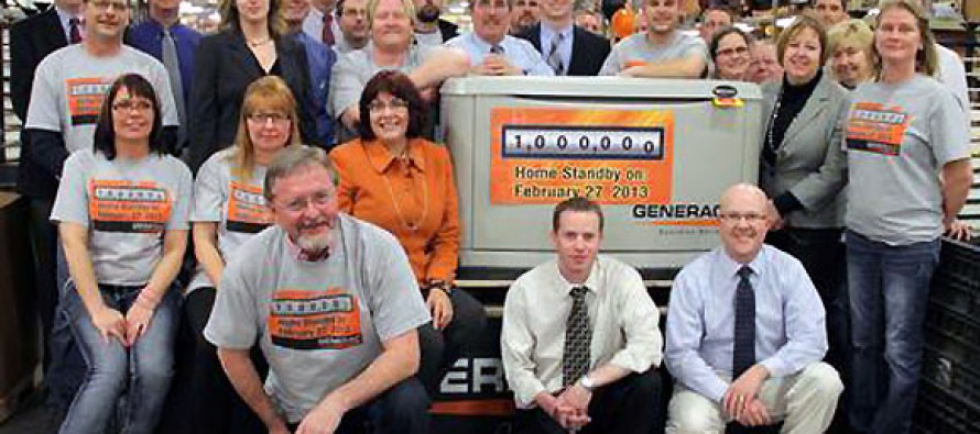 Generac Celebrates One Million Generators Sold