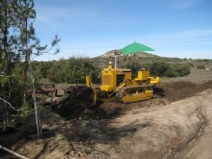 Might need a dozer for extensive earth moving. Photo by MtnViewRanch.